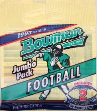 1993 - Topps - Bowman - NFL Football - Jumbo Pack - 2 Foil Cards