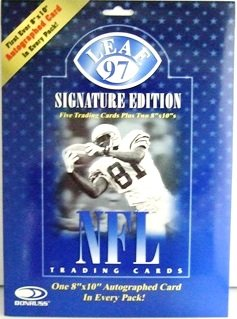 1997  Donruss Leaf Signature Edition NFL Football Autographed Card