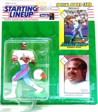 1993 - Warren Moon - Action Figures - Starting Lineups - Football - Oilers - Blue Jersey - Slu