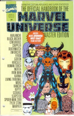 1994 - The Official Handbook of the Marvel Universe - Master Edition