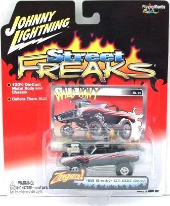 2005 - Silver '69 Shelby GT-500 Convertible - Street Freaks - Johnny Lightning - Die-cast Metal Cars