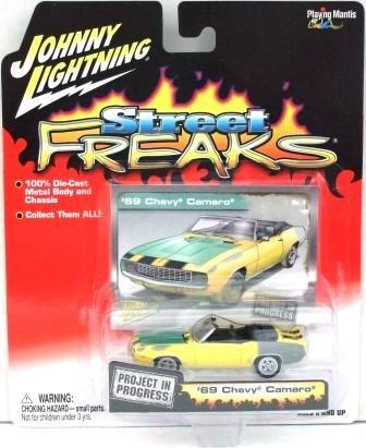 2005 - Johnny Lightning - Street Freaks - Project In Progress - 69 Chevy Camero  - Die-cast Metal