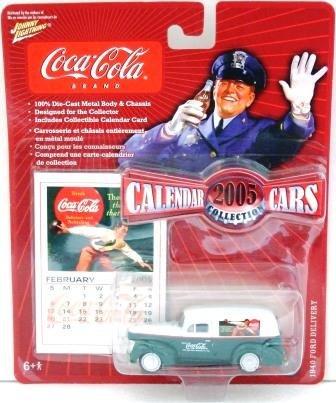 2005 - Johnny Lightning - '40 Ford Delivery - Coca Cola Brand - 2005 Calendar Cars - Die-cast Metal