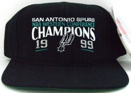 1999 - San Antonio - Spurs - NBA - Western Conference - Champions - Black - Basketball - Cap