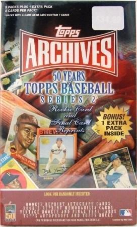 2001 Topps Archives Baseball Series 2