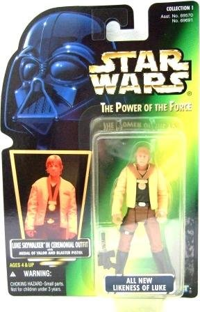 1997 - Luke Skywalker - In Ceremonial Outfit - Star Wars - The Power of the Force - Green Card
