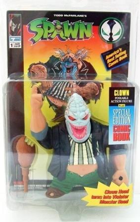 1994 - Clown - Alien Head - Action Figures - McFarlane Toys - Spawn - Series 1