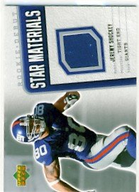 2006 - Jeremy Shockey - Upper Deck - Rookie Debut - Star Materials - Card SM-SH