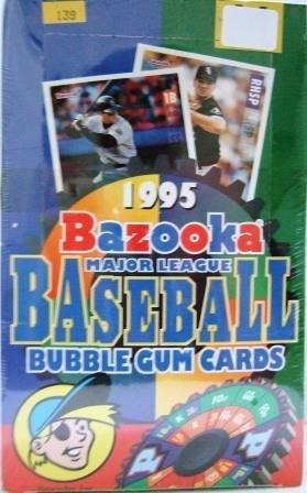 1995 - Topps - Bazooka - Baseball - Bubble Gum Cards - Factory Box 36 CT.