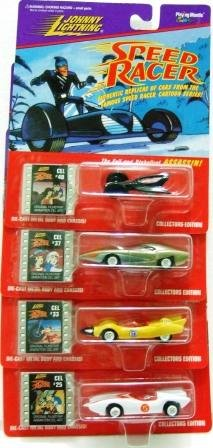 1997 - Speed Racer - Johnny Lightning - Complete Set of 4 - Die-cast Metal