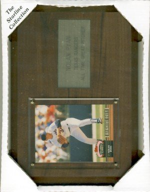 "Nolan Ryan - The Starline Collection - 6"" X 8"" Wooden Plaque"