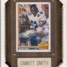 "1991 - Emmitt Smith - Vintage Sports Card Inc. - 4"" X 6"" Wooden Plaque"