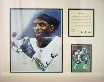 1995 - Deion Sanders - KRSI - Original Art - Limited Edition - Individually Numbered Print