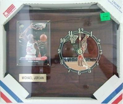 "Michael Jordan - Chaney Clock Collection - 8"" X 10"" Wooden Wall Mount Clock & Plaque"