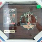 "Michael Jordan - Chaney Clock Collection - 8"" X 10"" Wooden Wall Mount Clock & Plaque"