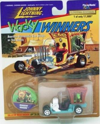 1997 - Johnny Lightning - Wacky Winners - Draggin' Dragon - Die-cast Metal Cars