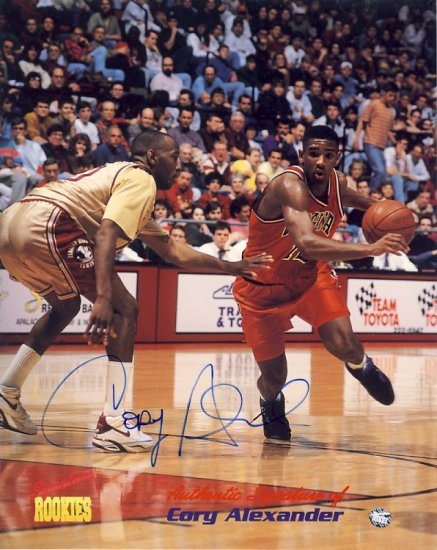 Cory Alexander - Signature Rookies - Limited Edition - Autographed - Virginia Jersey   - Photograph