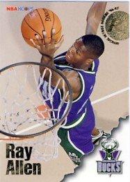 1996/97 - Ray Allen - NBA Basketball - SkyBox - NBA Hoops - Rookie Card #279