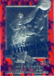 1998 - Michael Jordan - NBA Basketball - Fleer - Retirement - 23 Karat Gold Card