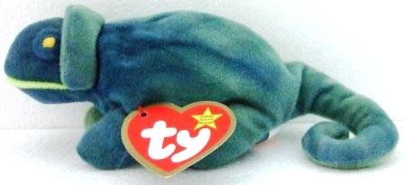 Ty - The Original - Teenie Beanie Baby - Iggy - Iguana - Used Plush Toys