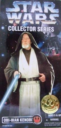 1996 - Obi-Wan Kenobi - Star Wars - 12 Inch Collectors Series - Rebel Alliance  - Toy Action Figure