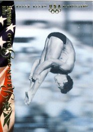 1996 - Greg Louganis - Upper Deck - Reign of Gold - USA Olympicard - Card # RN4