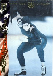 1996 - Bonnie Blair - Upper Deck - Reign of Gold - USA Olympicard - Card # RN2