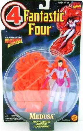 1996 - Toy Biz - Marvel Comics - Fantastic Four - Medusa - Toy Action Figures