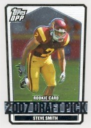2007 - Steve Smith - Topps - Draft Picks And Prospects - NFL Football - Chrome Draft Pick - #122