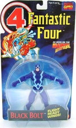 1994 - Toy Biz - Marvel Super Heroes - Fantastic Four - Black Bolt - Toy Action Figure