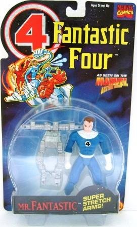 1994 - Toy Biz - Marvel Super Heroes - Fantastic Four - Mr. Fantastic - Toy Action Figure