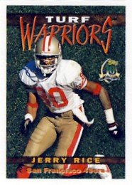 1996 - Jerry Rice - Topps - Turf Warriors - Card #TW 16