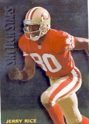 1994 - Jerry Rice - SkyBox - SkyTechs Stars - Card #ST-25