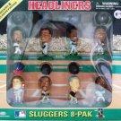 1996 - Corinthian - Headliners - Sluggers 8-Pak - Sports Toy - Action Figure Set
