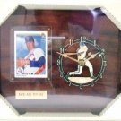 Nolan Ryan - Vintage Sports Cards - Plaque -  Wooden Clock
