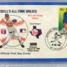 Nolan Ryan - St. Vincent - Baseball's All-Time Greats - Official First Day Cover - Stamped Envelope