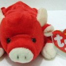 1995 - Ty - The Original - Beanie Baby - Snort - Bull - Plush Toys