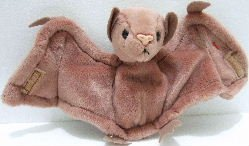 1996 - Ty - The Original - Beanie Baby - Batty - Bat - Plush Toys 565e66d07