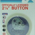 """Wincraft - Officially Licensed - Dallas Cowboys - 2 1/4"""" Carded Button"""
