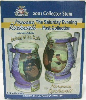 2001 - Miller Brewing Company - Norman Rockwell - Bottom Of The Sixth - Collector Stein