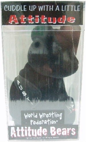 1999 - World Wrestling Federation - Attitude Bears - Steve Austin - Black Plush Bear
