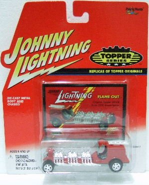 2000 - Johnny Lightning - Topper Series - Flame Out - Die-cast Metal Cars