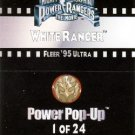 1995 - Fleer Ultra - Power Rangers - The Movie - White Ranger - Power Pop-Up - #1 of 24