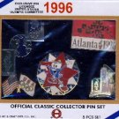 1996 - 3 Classic Collector - 5 Pcs. Pin Sets - Exclusive Pin Licensee of the U.S. Olympic Committee