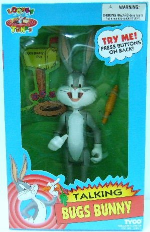 1994 - Tyco - Looney Tunes - Talking Bugs Bunny - Toy Action Figure