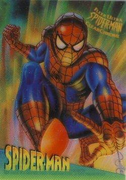 1995 - Marvel - Fleer Ultra - SpiderMan - Clear Chrome - Spider-Man - #9 of 10