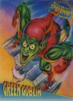 1995 Marvel Fleer Ultra SpiderMan  Clear Chrome Green Goblin 2 of 10