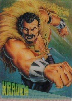 1995 Marvel Fleer Ultra Spider-Man Clear Chrome  Kraven 4 of 10