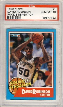 1990 Fleer Rookie Sensation David Robinson Rookie Card Psa 10 Gem Mint