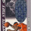 2005 - Hakim Warrick - Hit - The Write Stuff - Autograph - Card # WSA12